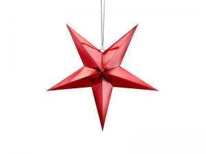 Stjärna, 45 cm, röd