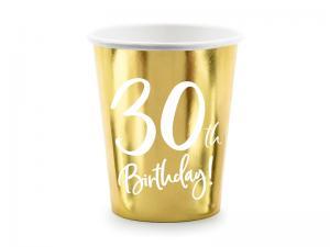 30th Birthday Guld Folie MUGGAR. 6 Pack. 220ml
