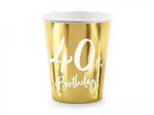 40th Birthday Guld Folie MUGGAR. 6 Pack. 220ml