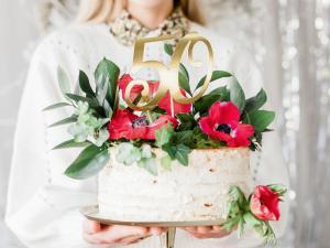 "Cake Topper - ""50"". 20.5cm"