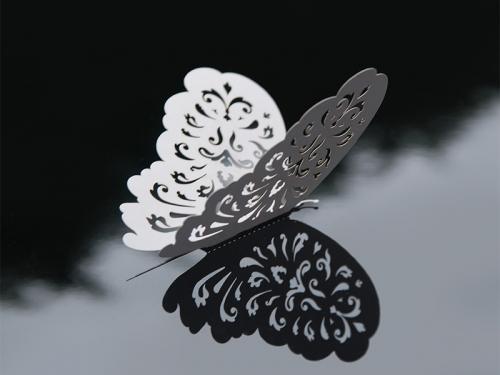 Pappersdekoration Fjärilar, 14 cm. 10 Styck