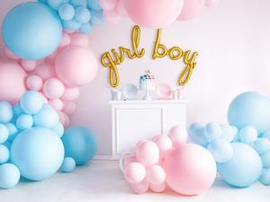 Gigantisk Ballong I Pastell Ljus Blå.  60cm. 1 Styck.