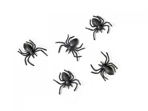 Spindel- Plast. Svart. 10styck. 3x3cm