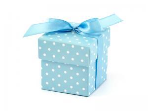 Box Ljus Blå. 5.2x5.2x5.2cm 10 styck.