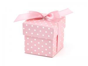 Box Ljus Rosa. 5.2x5.2x5.2cm 10 styck.