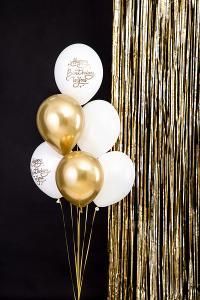 """Happy Birthday To You"" Latex ballong i Vit. 10 pack. 30cm."