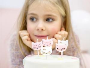 Cake Ljus Lovely Katt. 2cm. 6 Styck