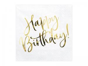Servett - Happy Birthday. 33x33cm. 20st.