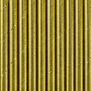 Pappers sugrör i Guld. 19,5cm. 10 styck.
