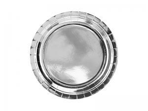 Silver Folie PAPPERSTALLRIKAR. 6 pack. 23cm