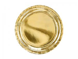 Guld Folie PAPPERSTALLRIKAR. 6 pack