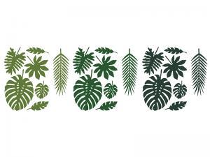 Aloha Dekoration. Tropiska Blad Mix. 21st.