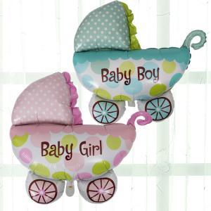 Barnvagn Baby Boy - Baby Shower Folieballong