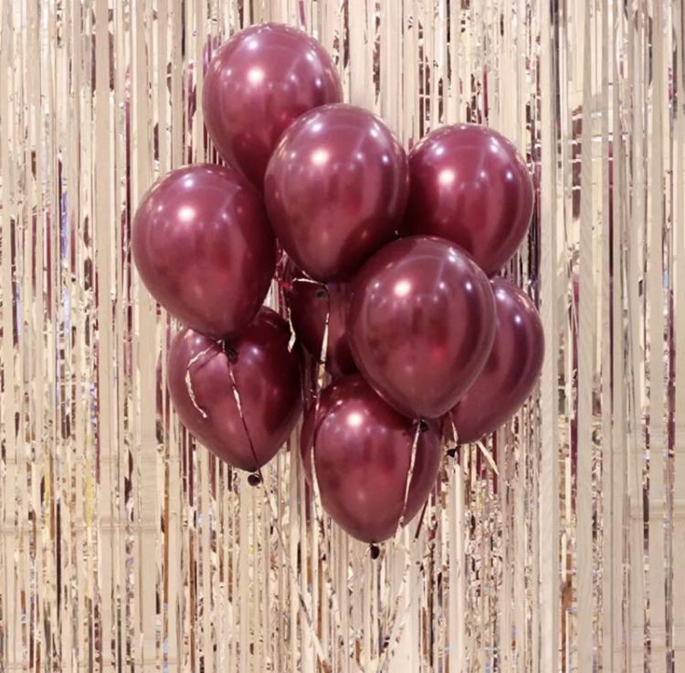 Vin Röd Unika Latex Ballong. 10 pack.