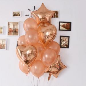 Ballong Buket i RosaGuld. 14 Pack