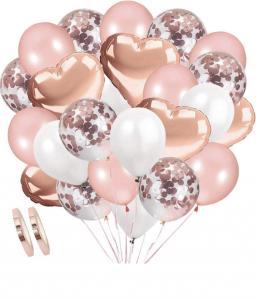 Ballong Bukett i RosaGuld/Vit.