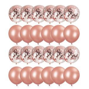 Ballong Bukett I RosaGuld. 40 Delar