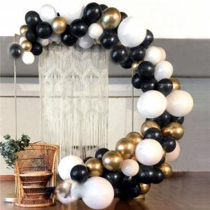 DIY Ballongbåge i Svart/Guld. 92 Delar