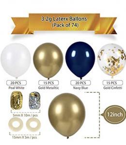 Ballong Bukett Kit i Marinblå/Guld. 70 Pack