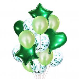 Ballong Bukett Grön. 14 Delar