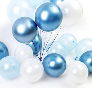 Ballong Bukett i Blå Chrome/Metallisk. 30 Pack