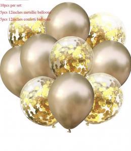 Ballong Bukett i Guld. 10 pack.