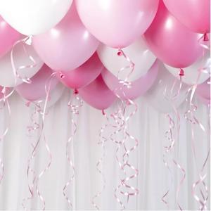 Ballongtak Bukett Pastell Rosa. 30 Pack