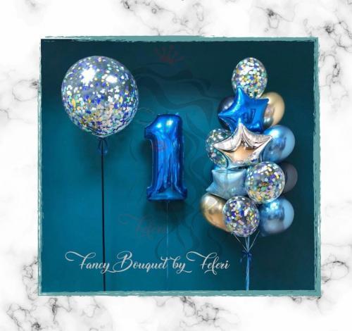 1st Birthday Luxury Ballong Bukett.