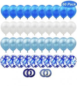 Ballong Bukett i Blå/Vit. 60 delar.