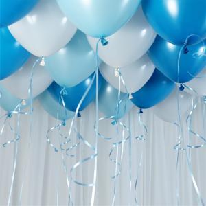 Ballongtak Bukett Pastell Blå. 30 Pack