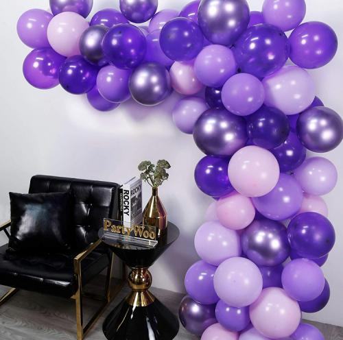DIY Exklusive Ballongbåge i Lila. 70 Delar.
