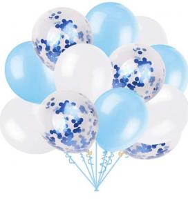 Ballong Bukett i Pastell Ljus Blå. 18 delar.