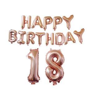18th HAPPY BIRTHDAY RosaGuld Ballong set.