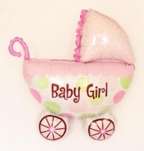 Barnvagn Baby Girl - Baby Shower folieballong