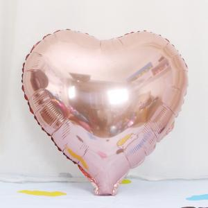 Rosaguld Hjärta Folie Ballong