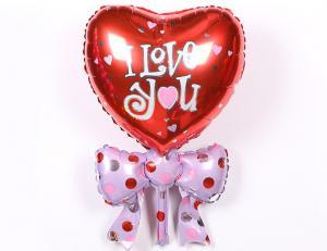 I LOVE YOU. Hjärta Folie Ballong.