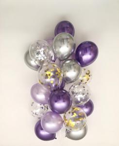 Ballong Bukett Sweet Moon Lila. 25 Pack.