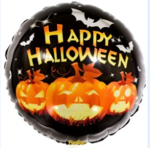 Happy Halloween Folie Ballong. 46cm