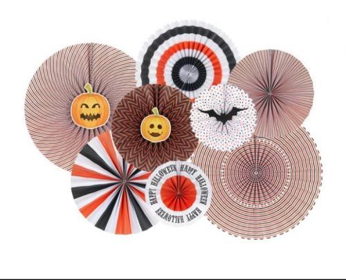 Halloween Paper Fans 8 Pack.