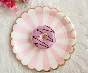 Bäst säljande Dukning Set i rosa guld för 8 person