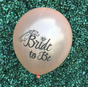Bride to Be Rosaguld Latex Ballonger. 10 pack