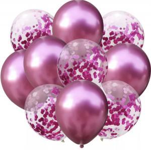 Ballong Bukett i Rosa. 10 pack.