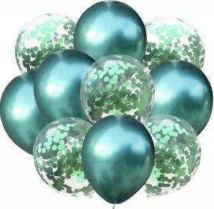 Ballong Bukett i Grön. 10 Pack.
