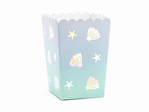 Popcornboxar Narwhal. 6 Pack. 7x7x12.5cm