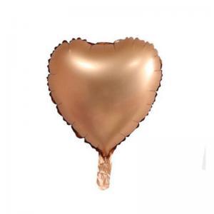 Metallisk RosaGuld Hjärta Folie Ballong. 46 cm