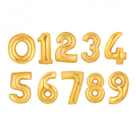 SifferBallong  Guld. 1 m
