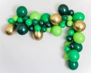 DIY Ballongbåge i Grön/Guld. 40 delar.