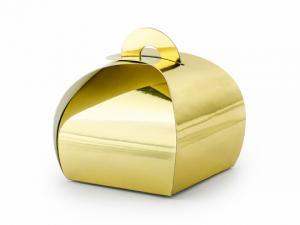 Guld Box. 6x6x5.5cm. 10 styck.