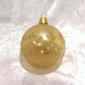 Guld matt metallic dekor bladslinga