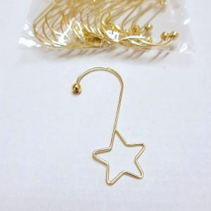 Hänge stjärna för juldekorationer silver blank